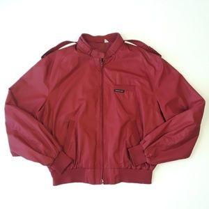 Vintage Members Only Burgundy Bomber Jacket